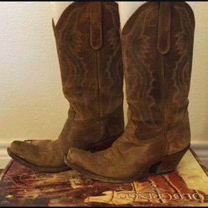 Sexy Old Gringo Rosario Suede Cowboy Boots, Sz 9
